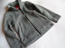 REIMA Geniale graue Strick-Fleecejacke Gr.122/128 TOP!