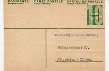 Suiza Entero postal Usado (DL-587)