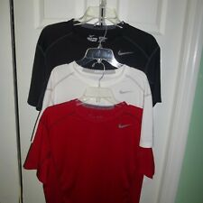 Lot of 3 Men's Nike Pro Combat Dri-Fit Fitted Shirts Size Large - Excellent