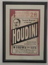Window Card From Poster Houdini's Final Tour: 9-20-26