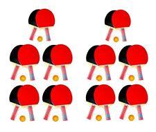 10x Tischtennis Schläger Set mit je 3 Bälle und 2 Schläger Tischtennisschläger