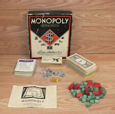 Genuine Vintage Parker Brothers 1936, 1951 Collectible Monopoly Board Game *READ