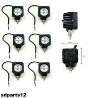 6 Pezzi Lampada Lavoro Luce Led Faro 10W Faretto Auto Camion Suv Moto Lkw