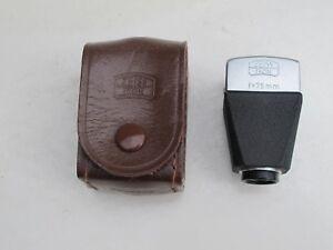 "Zeiss Ikon Contax RF rangefinder 75mm 423 finder w/case, late style RARE ""LQQK"""