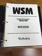 KUBOTA MX5000 TRACTOR Workshop Service Repair Manual BINDER