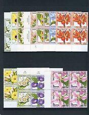 PITCAIRN ISLANDS Sc#512-523 FLOWERS BLOCKS of 4s SUPERB MNH