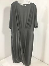 ASOS CURVE WOMEN'S WRAP TWIST T SHIRT DRESS GRAPHITE GRAY UK:24US:20 NWT