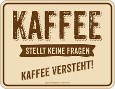 """Original Rahmenlos® Magnet """"  Kaffee versteht """" 9x7cm Kühlschrankmagnet  #2425"""