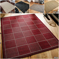 MODERN BOX GEOMETRIC KITCHEN DINNING ANTI SLIP FLAT SALE MULTI LARGE RUNNER RUGS