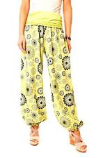 Eyf Ladies Harem Pants Baggy Trousers Hippie Style Summer Trousers Floral Green