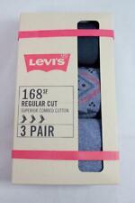 Levis Levi's Men 168 3 paris socks Superior Combed Cotton Regular Cut Crew 9-12