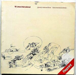 Lotus international n. 18 1978 Reprint Rivista Architettura Gabriele Basilico