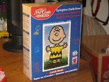 New listing Peanuts Gang Springtime Charlie Brown Latch Hook Rug Kit 50Th Celebration New