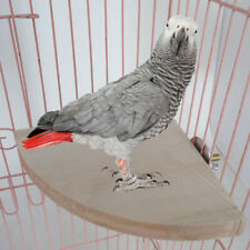 Wood Parrot Bird Cage Perches Platform Stand Rack Pet Budgie Hamster Hanging Toy
