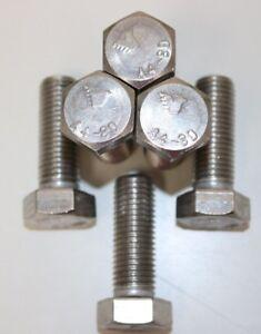 M16 X 45 Hex Head Screw.  Stainless Steel