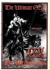 "1/3/86pg44 FRAMED Album Advert 15x10"" Ozzy Osbourne, The Ultimate Sin"