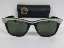New Vintage B&L Ray Ban 47mm Small Wayfarer Street Neat White Mother of Pearl
