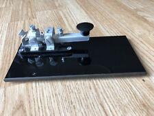 Vintage Westclox Canadian Military CW Morse Code Telegraph Key Keyer Bug + Base