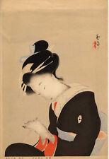 UW»Estampe japonaise originale courtisane  Keigetsu Kikuchi 42