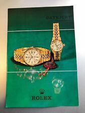 Rolex libretto  booklet in inglese per Ref. 1601 - 6517 stampato nel1967