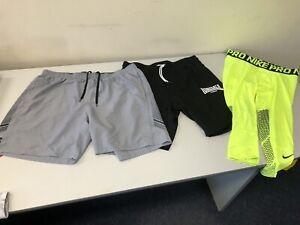 Mens XXL NIKE PRO COMBAT 3/4 compression pants + Under Armour & LONSDALE shorts
