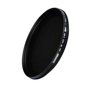 ZOMEi 67mm Ultra Slim Neutral Density ND2-400 Fader Variable ND Filter For DSLR