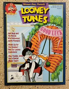 Awesome Winter 1989/1990 Looney Tunes Magazine #1 NM condition Bugs Bunny Cover