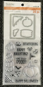 Halloween Pumpkin Clear Stamp and Die Set 20 pcs by Recollections 638305