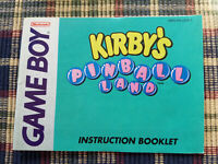 Kirby's Pinball Land - Authentic - Nintendo Game Boy - Manual Only! DMG-K9-USA-1