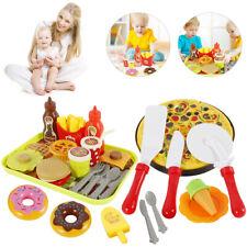 40x Pretend Role Play Kitchen Kids Toy Pizza Food Cutting Set Children Xmas Gift