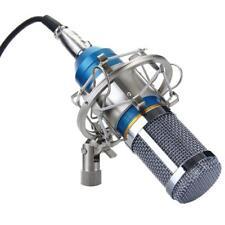 Condenser Studio Microphone Mic with Anti-wind Foam Cap & Shock Mount Blue