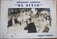 1950s Souvenir Photograph: 'Restaurant Campestre El Sitio - Wajay, Havana, Cuba'
