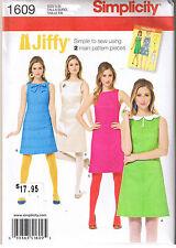 Simplicity Sewing Pattern 1609 Ladies 6-14 Jiffy Retro 60s Mod a Line Dress