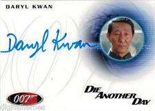 James Bond 007 Autograph & Relics 2013 Card A232 Daryl Kwan as General Kwan