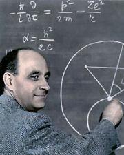 "ENRICO FERMI ITALIAN PHYSICIST NUCLEAR REACTOR 8x10"" HAND COLOR TINTED PHOTO"