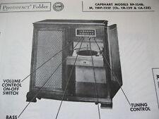 CAPEHART RP-154B,M,11RP-125F PHONOGRAPH RADIO PHOTOFACT