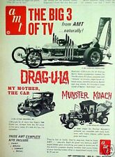 1966 Drag~U~La~My Mother the Car AMT Model Kits~Barris Vintage Toy Promo AD