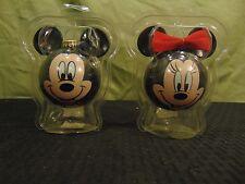 Vintage Disney Unlimited Glass Ornaments Christmas by Krebs Mickey & Minnie