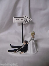 Wedding Party Reception ~Golf Ball & Golf Club~  Game Over Sign Cake Topper
