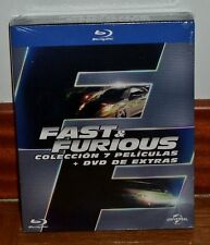 FAST AND FURIOUS-PACK 1-7 COLLECTION COMPLETE-7 BLU-RAY+1 DVD-SEALED-SEALED