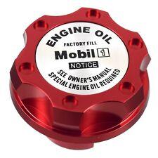 Red Billet Silver Mobil 1 Anodized Oil Cap Filler Fits Silverado Sierra HD