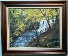 Original Oil Painting Framed GLENARIFF WATERFALL, N. IRELAND by Irish Artist