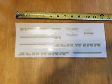 Genuine Original Schwinn Tiger Frame Waterslide Decals Chicago Bike Stickers