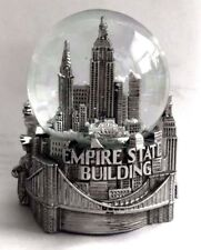 Silver New York City Snow Globe 3.5 Inch empire State building,Skyline Liberty