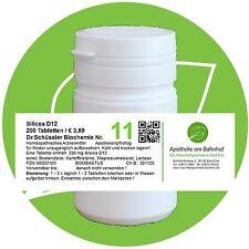 Schüßler - Salz 11 Silicea D12 glutenfrei 200 Tabl. PZN 08000100