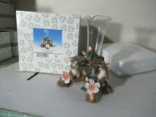 """Charming Tails """"Love Expressions"""" Vase with flowers 93/209 In Box"""