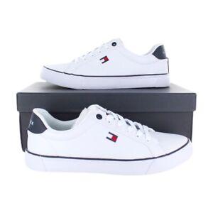 Tommy Hilfiger Mens Randal White/Navy Sneakers (TMRANDAL) U.S Size 7-13