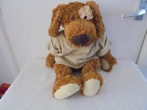 vintage Commonwealth large brown dog plush with beanie bottom 2003