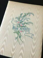 Vintage 70s 80s Bridal Memories Wedding Album Fabric Covered Unused
