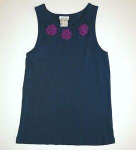 Matilda Jane Its a wonderful parade navy blue purple July tank top shirt 14/12